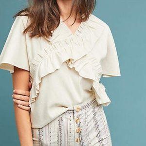 NWT Wray Mina silk top natural size medium
